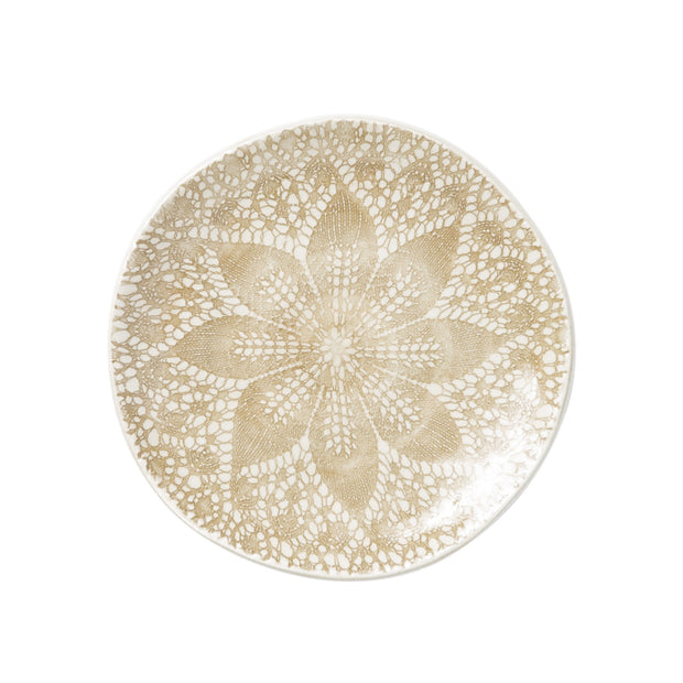 Lace Natural Cocktail Plates - Set of 4 by VIETRI