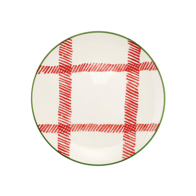 Mistletoe Plaid Salad Plate by VIETRI