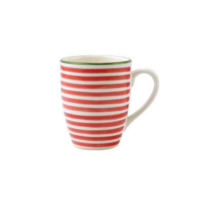 Mistletoe Stripe Mug by VIETRI