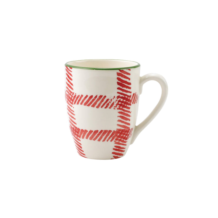 Mistletoe Plaid Mug by VIETRI