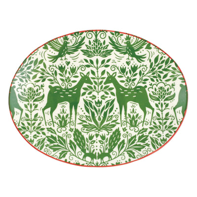 Mistletoe Oval Platter by VIETRI
