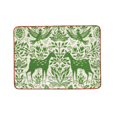 Mistletoe Small Rectangular Platter by VIETRI