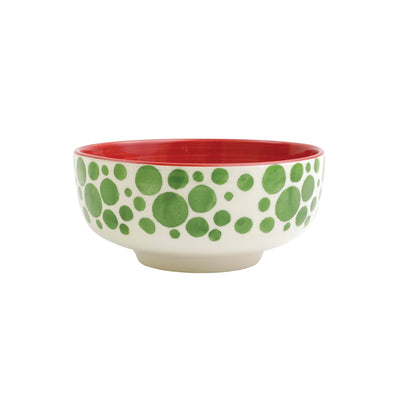 Mistletoe Bubble Medium Footed Serving Bowl by VIETRI