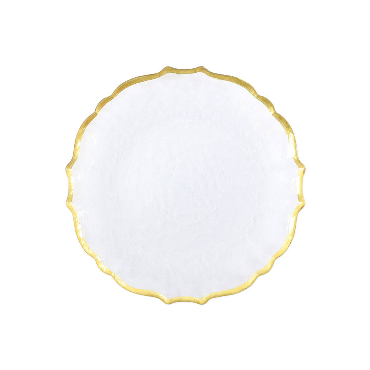 Baroque Glass Salad Plate by VIETRI