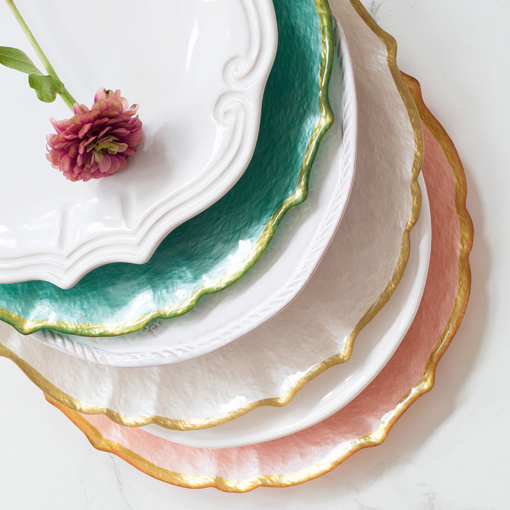 Baroque Glass Service Plate/Charger