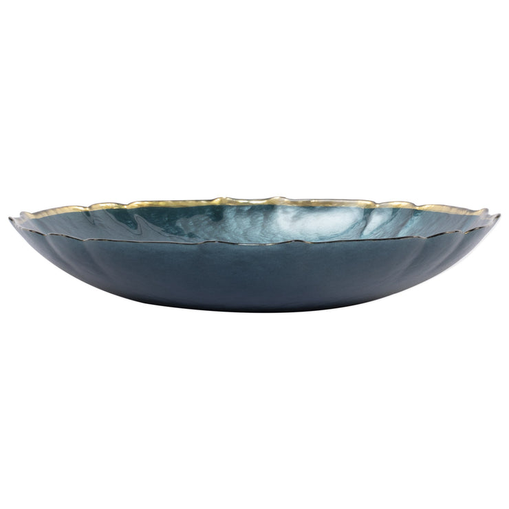 Baroque Glass Large Bowl by VIETRI