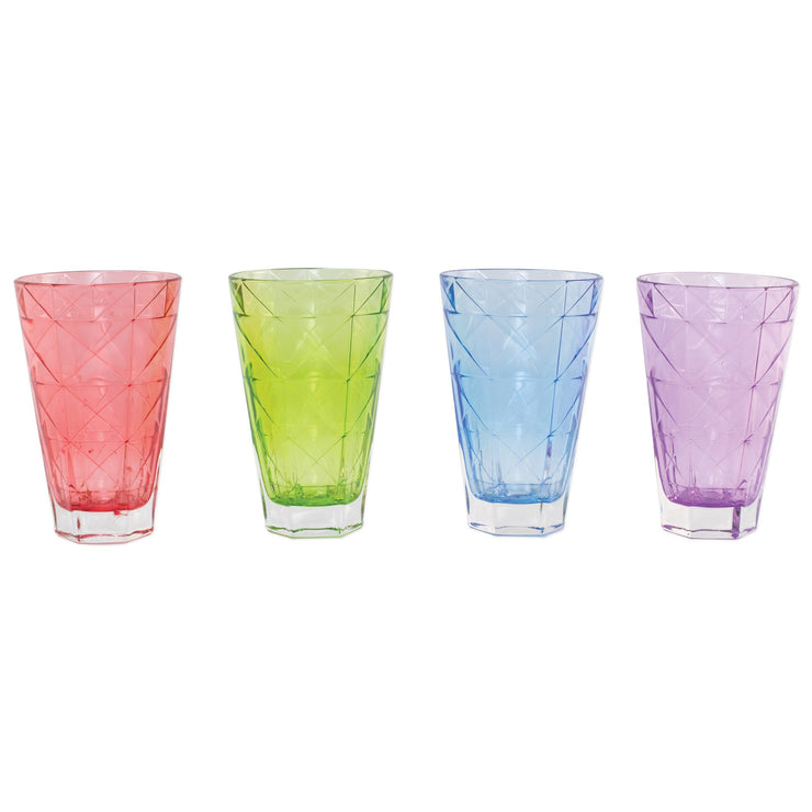 Prism Assorted Tall Tumblers - Set of 4 by VIETRI