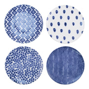 Santorini Assorted Dinner Plates - Set of 4 by VIETRI
