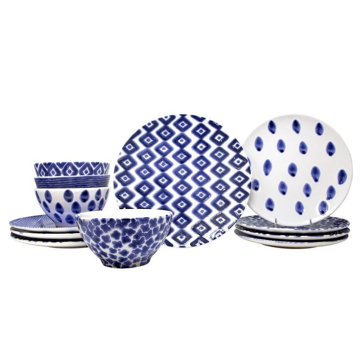 Santorini Assorted 12-Piece Place Setting by VIETRI