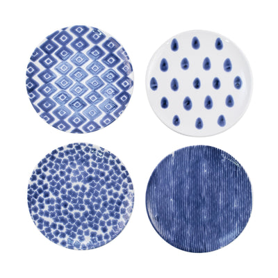 Santorini Assorted Salad Plates - Set of 4 by VIETRI
