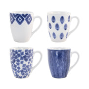 Santorini Assorted Mugs - Set of 4 by VIETRI
