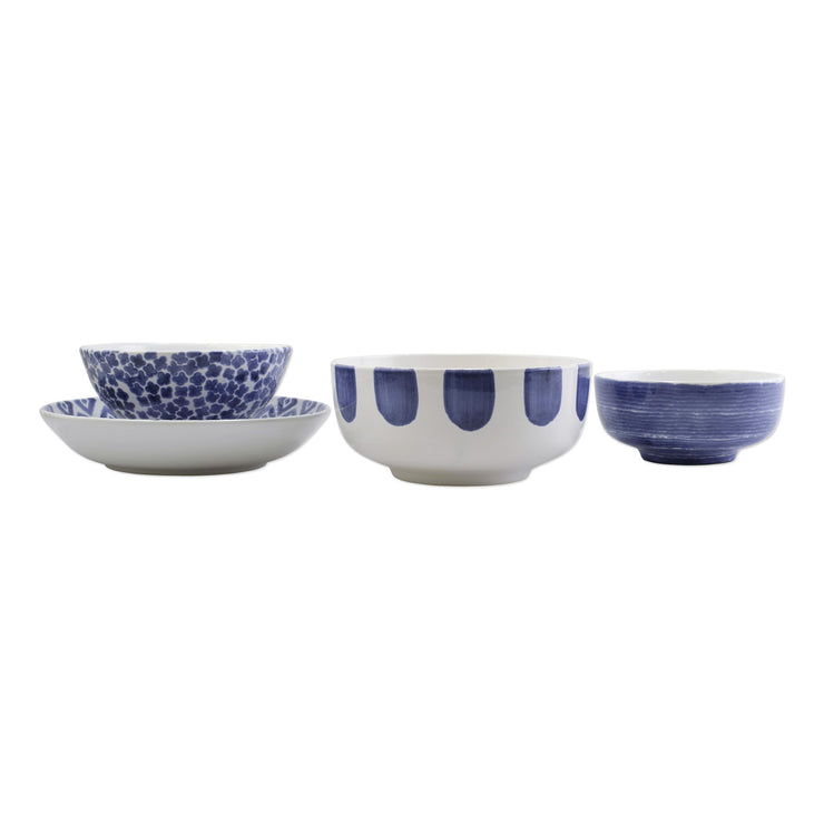 Santorini 4-Piece Serving Bowls Set by VIETRI