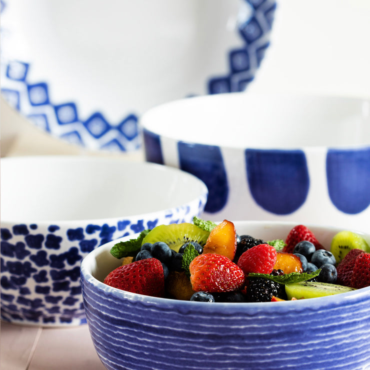 Santorini 4 Piece Serving Bowls Set Vietri