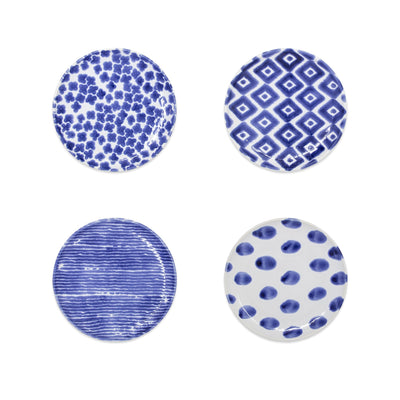 Santorini Assorted Cocktail Plates - Set of 4 by VIETRI
