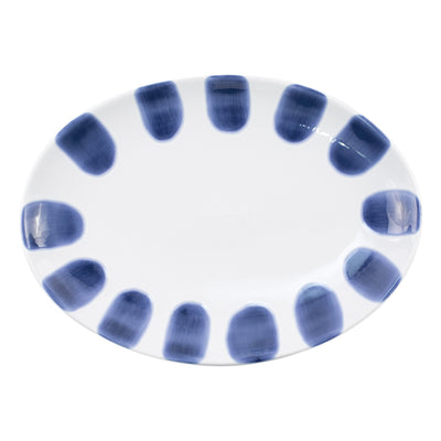 Santorini Dot Small Oval Platter by VIETRI