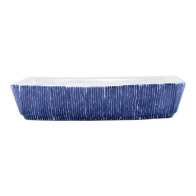 Santorini Stripe Rectangular Baker by VIETRI