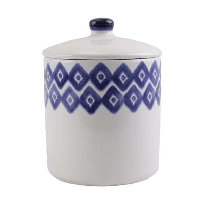 Santorini Diamond Large Canister by VIETRI