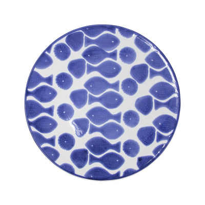 Santorini Fish Dinner Plate by VIETRI