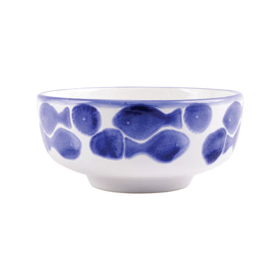 Santorini Fish Medium Footed Serving Bowl by VIETRI