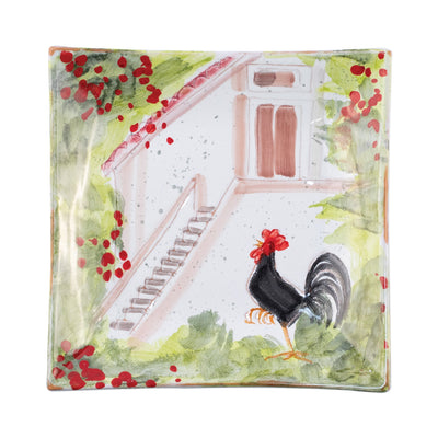 Wall Plates Rooster Square Wall Plate by VIETRI