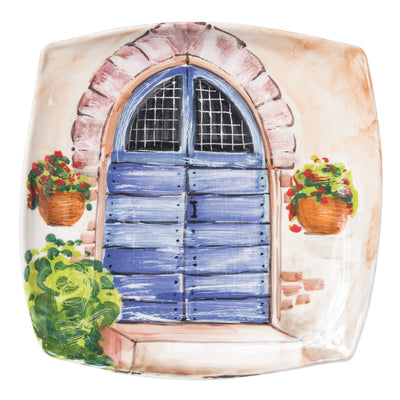 Landscape Wall Plates Blue Door Wall Plate by VIETRI