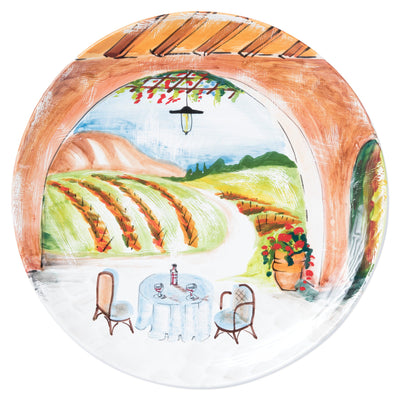 Landscape Wall Plates Inside Looking Out Round Wall Plate by VIETRI