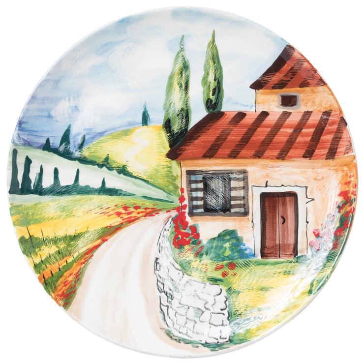 Landscape Wall Plates Countryside Round Wall Plate by VIETRI
