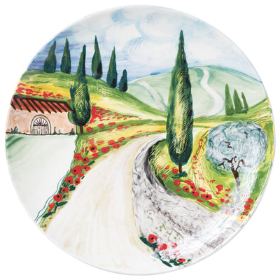 Landscape Wall Plates Vineyard Round Wall Plate by VIETRI