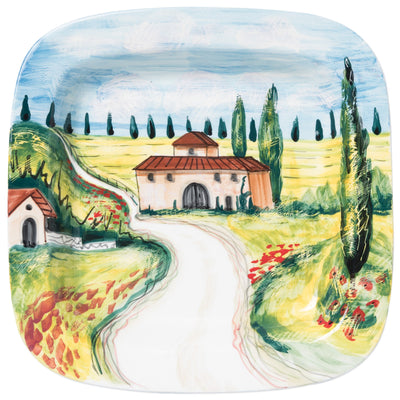 Landscape Wall Plates Villas Square Wall Plate by VIETRI