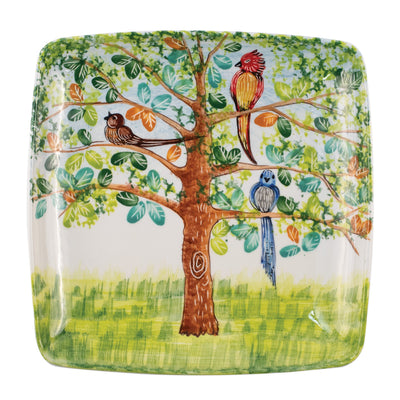 Wall Plates Birds Square Wall Plate by VIETRI