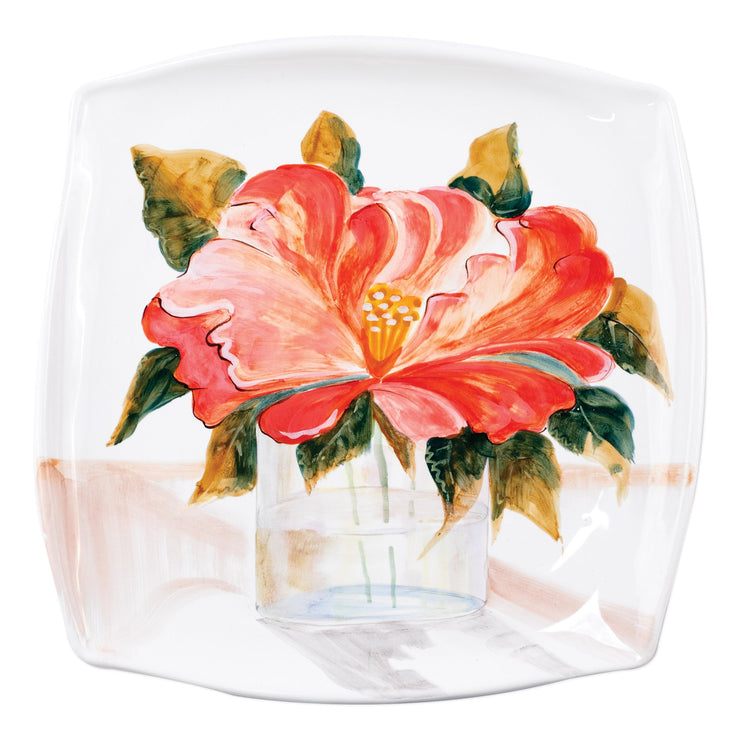 Wall Plates Camellia Square Platter by VIETRI