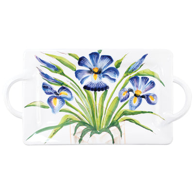 Wall Plates Iris Handled Rectangular Platter by VIETRI