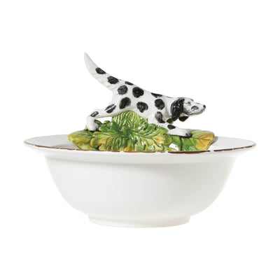 Wildlife Serving Bowl With Hunting Dog by VIETRI