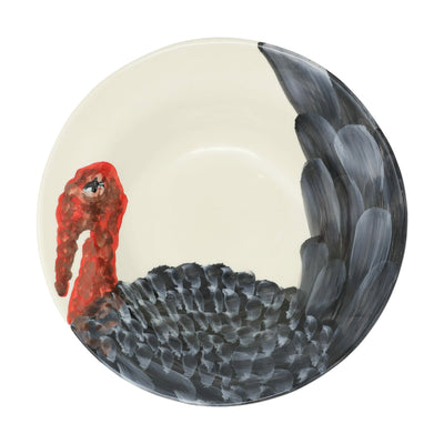 Wildlife Turkey Medium Serving Bowl by VIETRI