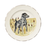 Wildlife Black Hunting Dog Dinner Plate by VIETRI