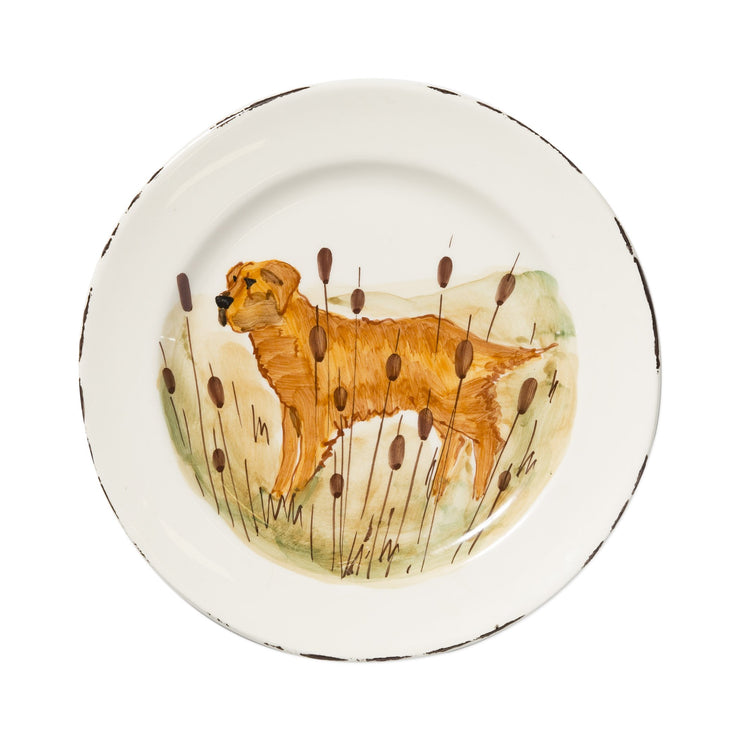 Wildlife Hunting Dog Dinner Plate by VIETRI