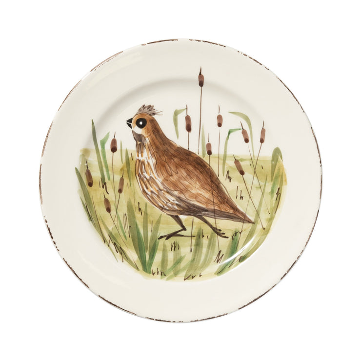 Wildlife Quail Dinner Plate by VIETRI