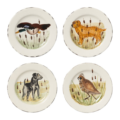 Wildlife Assorted Salad Plates - Set of 4 by VIETRI