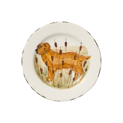 Wildlife Hunting Dog Salad Plate by VIETRI