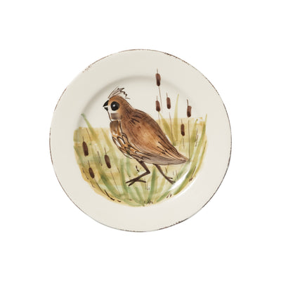 Wildlife Quail Salad Plate by VIETRI