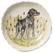 Wildlife Black Hunting Dog Large Serving Bowl by VIETRI