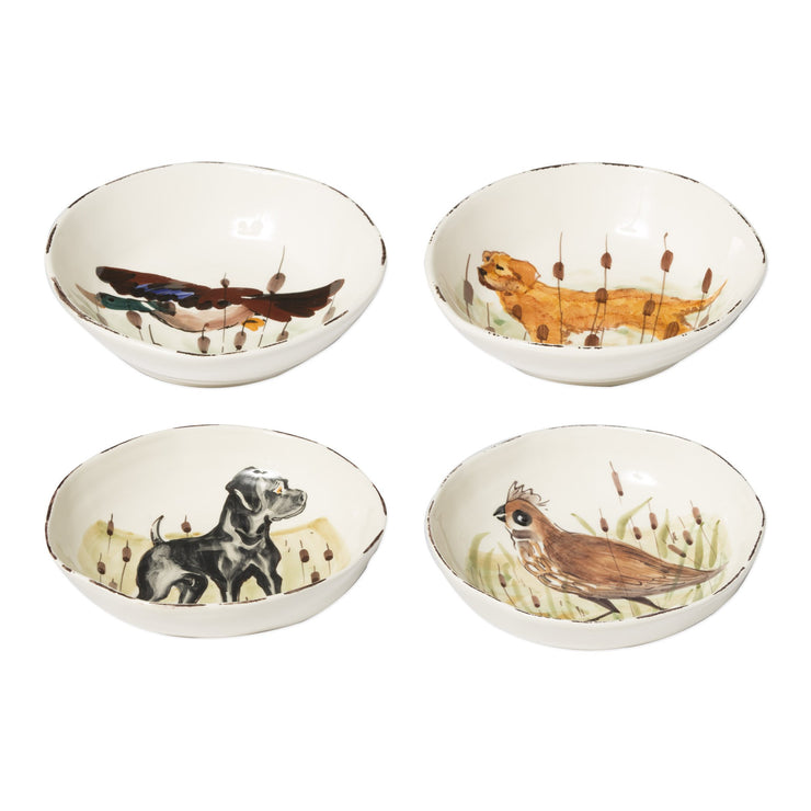 Wildlife Assorted Pasta Bowls - Set of 4 by VIETRI