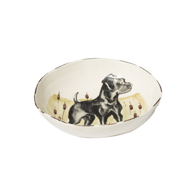 Wildlife Black Hunting Dog Pasta Bowl by VIETRI