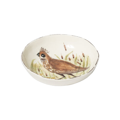 Wildlife Quail Pasta Bowl by VIETRI