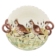 Wildlife Quail Scallop Handled Bowl by VIETRI