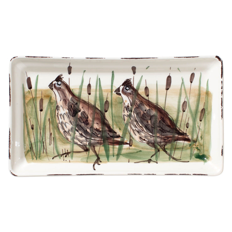 Wildlife Quail Rectangular Platter by VIETRI