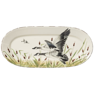 Wildlife Geese Small Oval Platter by VIETRI
