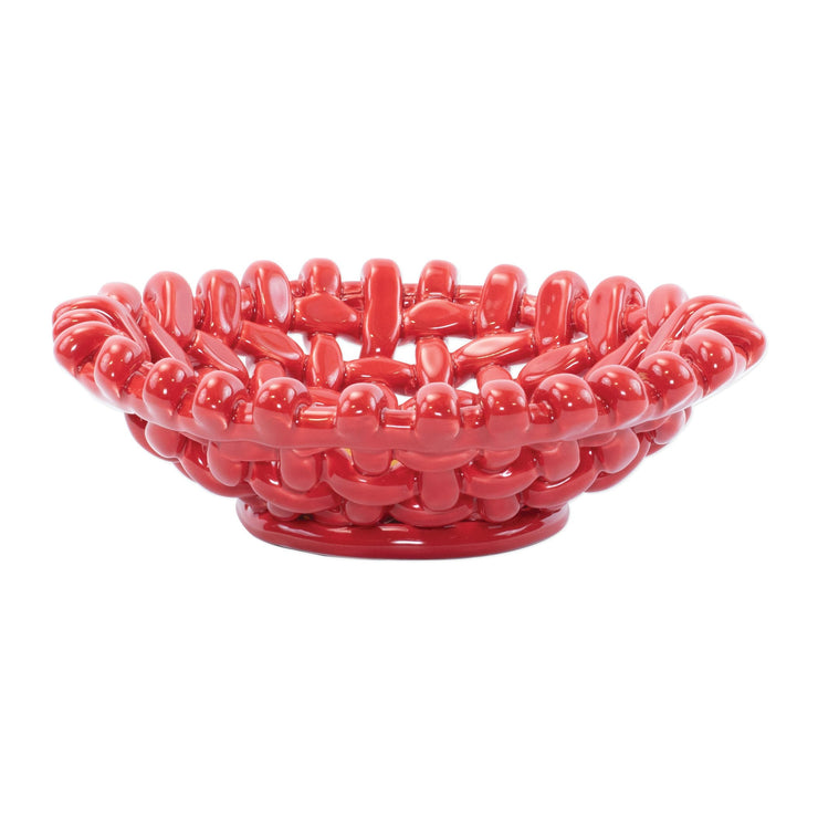 Woven Baskets Red Small Basket by VIETRI