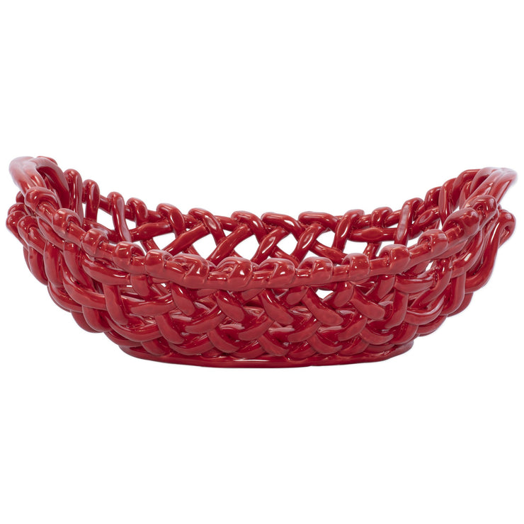 Woven Baskets Red Large Basket by VIETRI