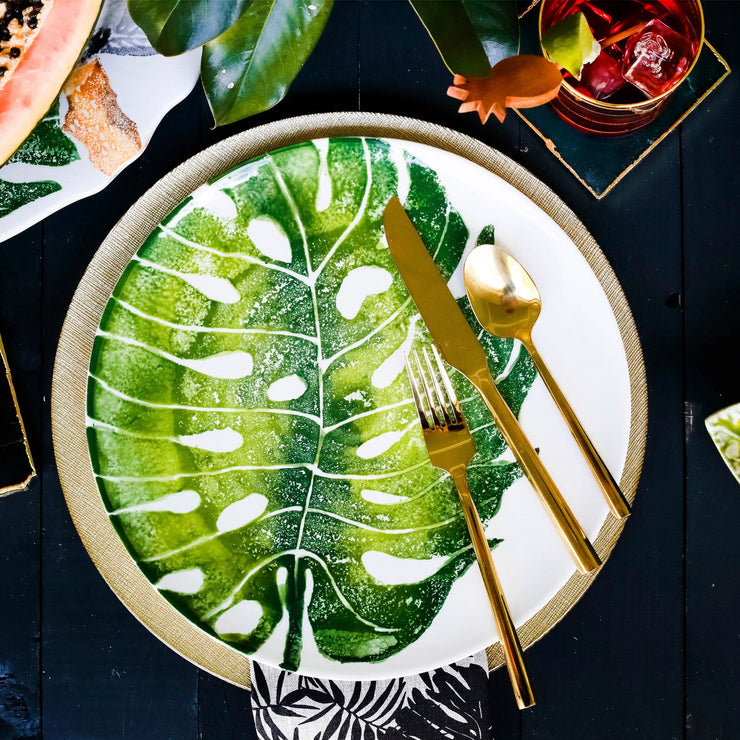 Into the Jungle Banana Leaf Cereal Bowl by VIETRI